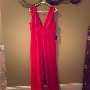 Women's red jumpsuit